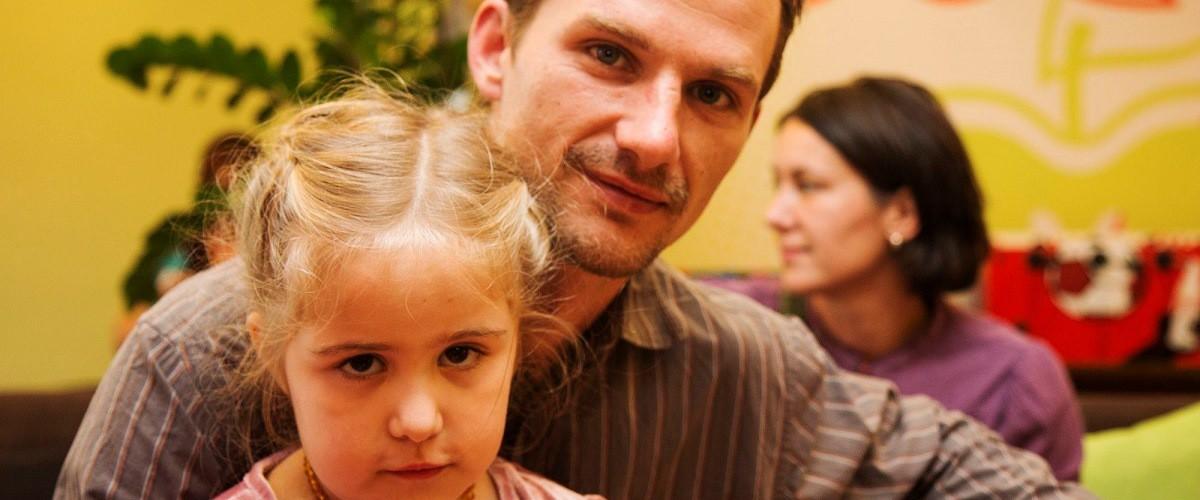 Kislány az apukájával