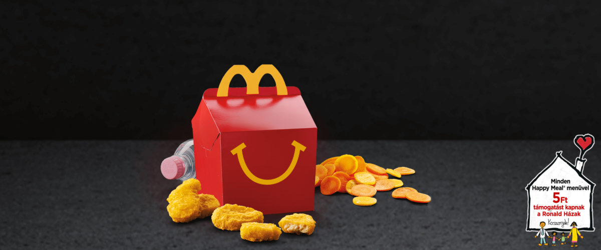 Happy meal menu, ásványvíz